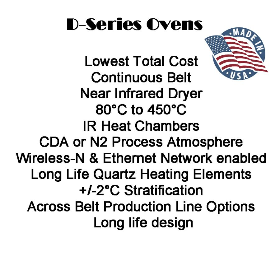 D-SERIES CONTINUOUS BELT NEAR INFRARED DRYER
