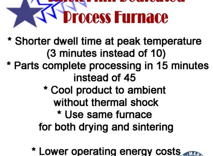Thick Film Dedicated IR Process Furnace