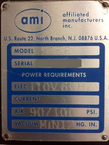 AMI/HMI 9156PC Screen Printer