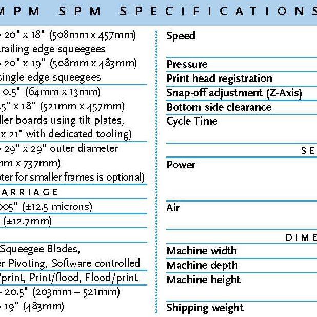 MPM-SPM SCREEN PRINTER