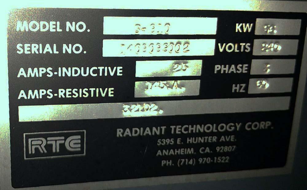 RTC S910 Belt Furnace N2