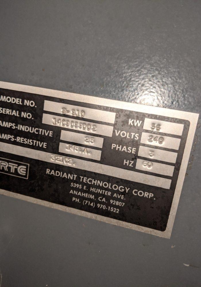 RTC S910 FURNACE